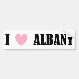 I Love Albany Bumper Sticker