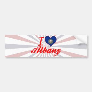 I Love Albany, New Hampshire Bumper Sticker