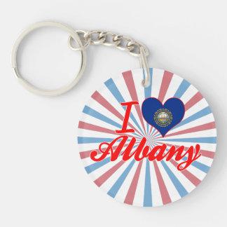 I Love Albany, New Hampshire Single-Sided Round Acrylic Keychain
