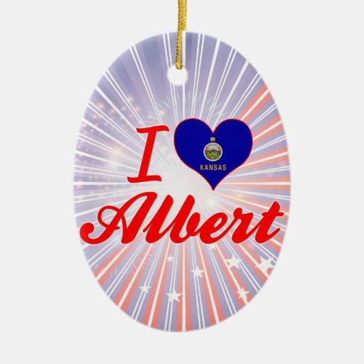 I Love Albert, Kansas Christmas Ornaments