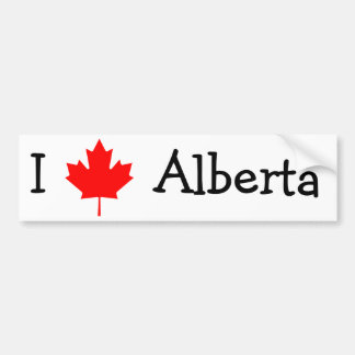 I Love Alberta Bumper Sticker