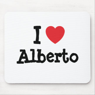 I love Alberto heart custom personalized Mouse Mat
