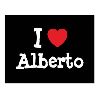 I love Alberto heart custom personalized Post Cards