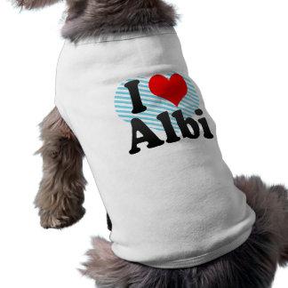 I Love Albi, France Pet Tshirt