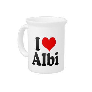 I Love Albi, France Beverage Pitchers