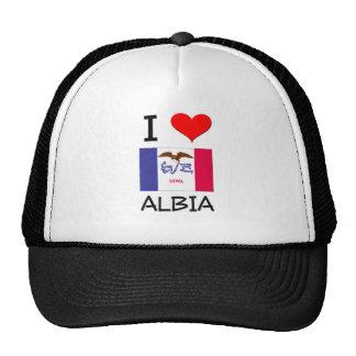 I Love ALBIA Iowa Trucker Hat