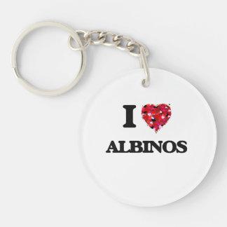 I Love Albinos Single-Sided Round Acrylic Keychain