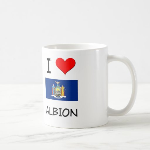 I Love Albion New York Classic White Coffee Mug