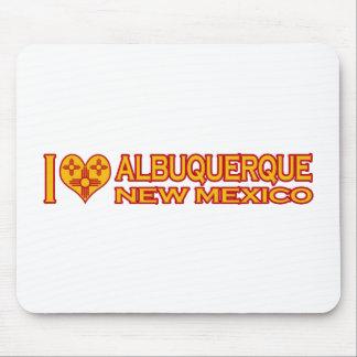 I Love Albuquerque, NM Mouse Pad