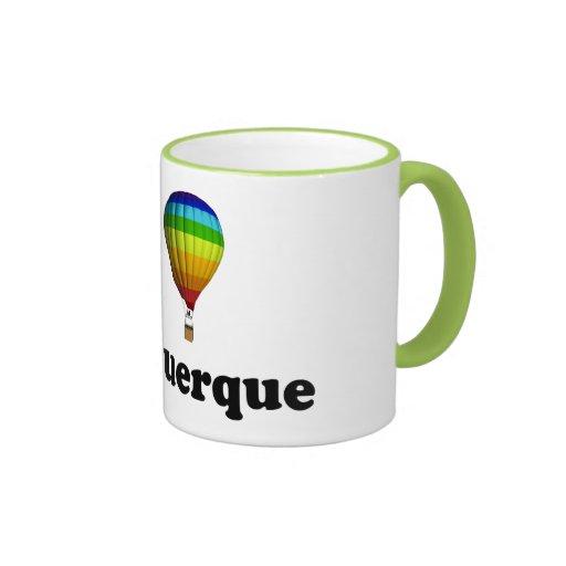 I Love Albuquerque Ringer Coffee Mug