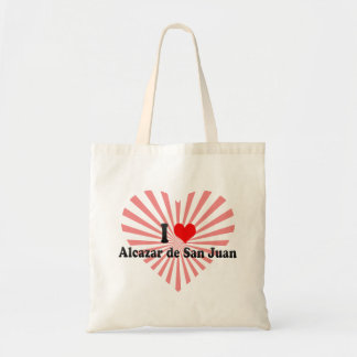 I Love Alcazar de San Juan, Spain Budget Tote Bag