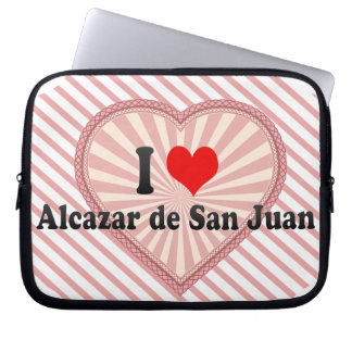 I Love Alcazar de San Juan, Spain Laptop Computer Sleeves