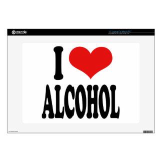 "I Love Alcohol 15"" Laptop Skins"