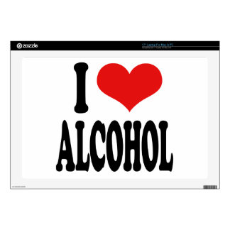 "I Love Alcohol 17"" Laptop Decal"