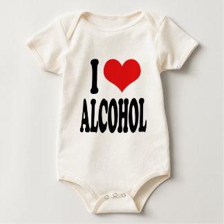 I Love Alcohol Baby Creeper