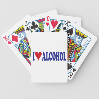 I Love Alcohol Bicycle Playing Cards