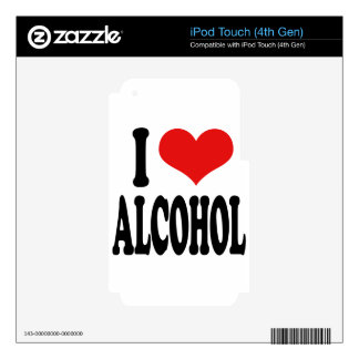 I Love Alcohol Decals For iPod Touch 4G