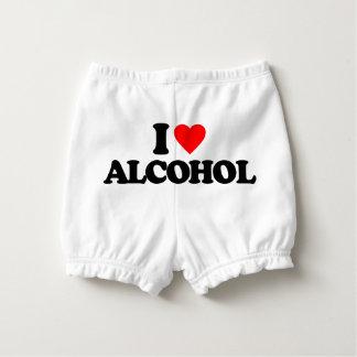 I LOVE ALCOHOL DIAPER COVER