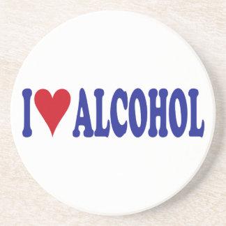 I Love Alcohol Drink Coaster