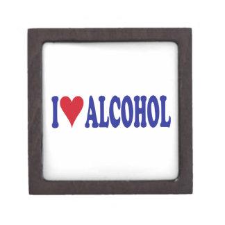 I Love Alcohol Keepsake Box