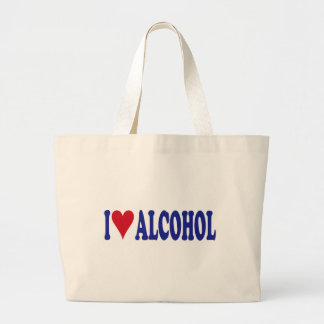 I Love Alcohol Large Tote Bag
