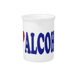I Love Alcohol Pitcher