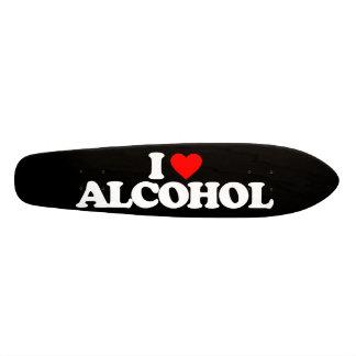 I LOVE ALCOHOL SKATEBOARD