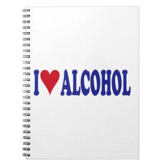 I Love Alcohol Spiral Notebook