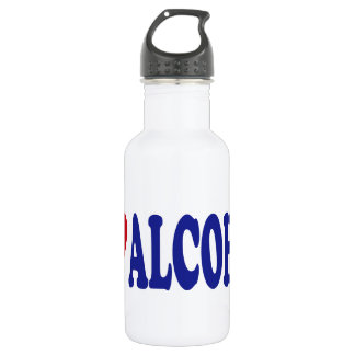 I Love Alcohol Stainless Steel Water Bottle
