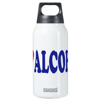 I Love Alcohol Thermos Water Bottle