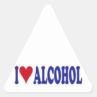 I Love Alcohol Triangle Sticker