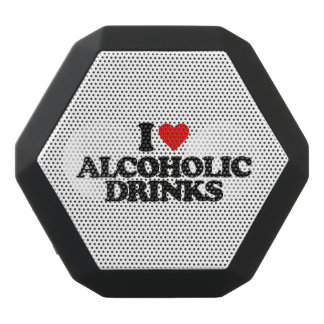 I LOVE ALCOHOLIC DRINKS BLACK BLUETOOTH SPEAKER