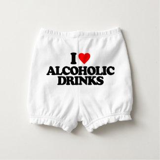 I LOVE ALCOHOLIC DRINKS DIAPER COVER