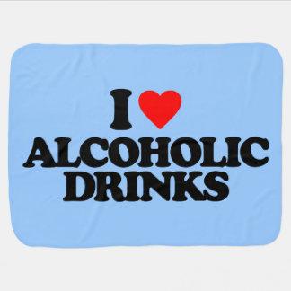 I LOVE ALCOHOLIC DRINKS STROLLER BLANKET