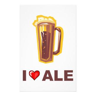 I Love Ale Custom Stationery