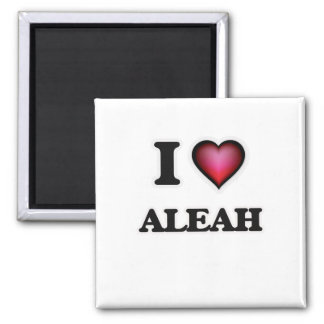 I Love Aleah 2 Inch Square Magnet