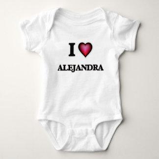 I Love Alejandra Baby Bodysuit