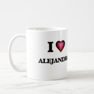 I Love Alejandra Coffee Mug
