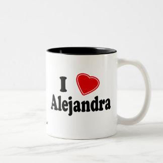 I Love Alejandra Two-Tone Coffee Mug