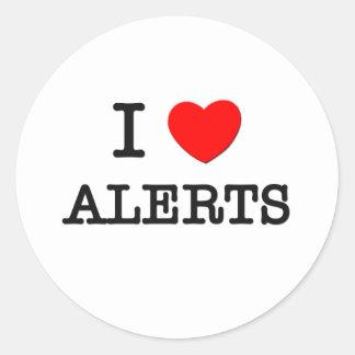 I Love Alerts Classic Round Sticker