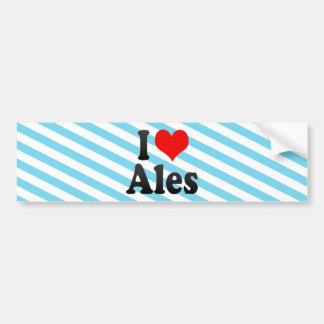 I Love Ales, France Bumper Sticker