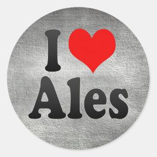 I Love Ales, France Classic Round Sticker