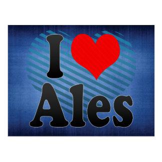 I Love Ales, France Postcard