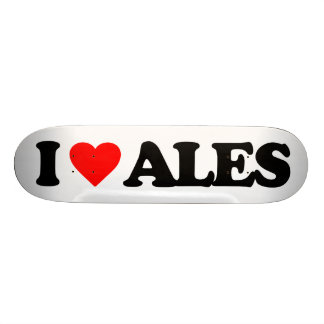 I LOVE ALES SKATEBOARD DECK
