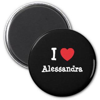 I love Alessandra heart T-Shirt Magnets