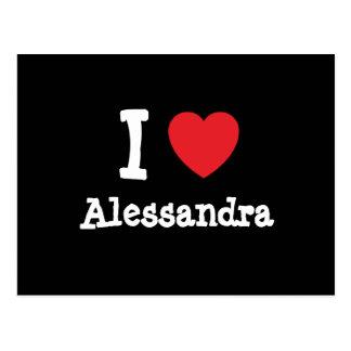I love Alessandra heart T-Shirt Post Cards