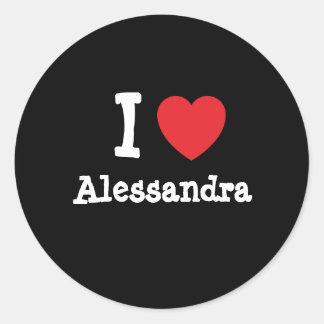 I love Alessandra heart T-Shirt Stickers