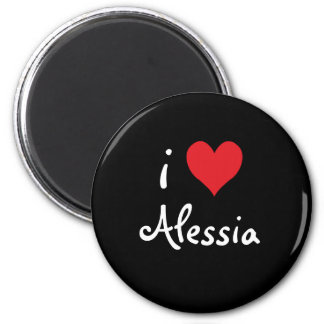 I Love Alessia Refrigerator Magnets
