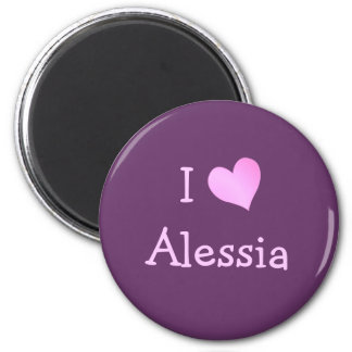 I Love Alessia Magnet