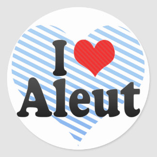 I Love Aleut Stickers